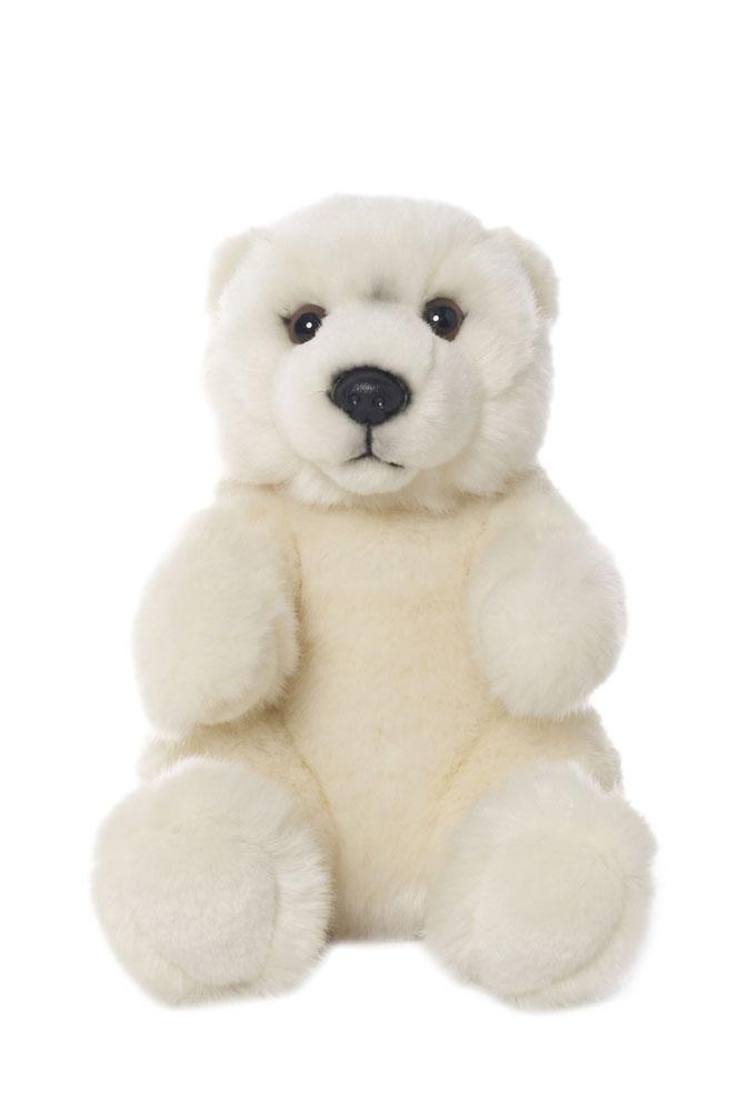 Plüschtier - WWF Eisbär sitzend, Grösse 15cm