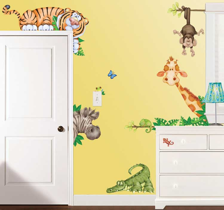 wandtattoo room fx jungle. Black Bedroom Furniture Sets. Home Design Ideas