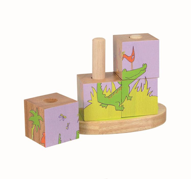Holz-Stapelpuzzle