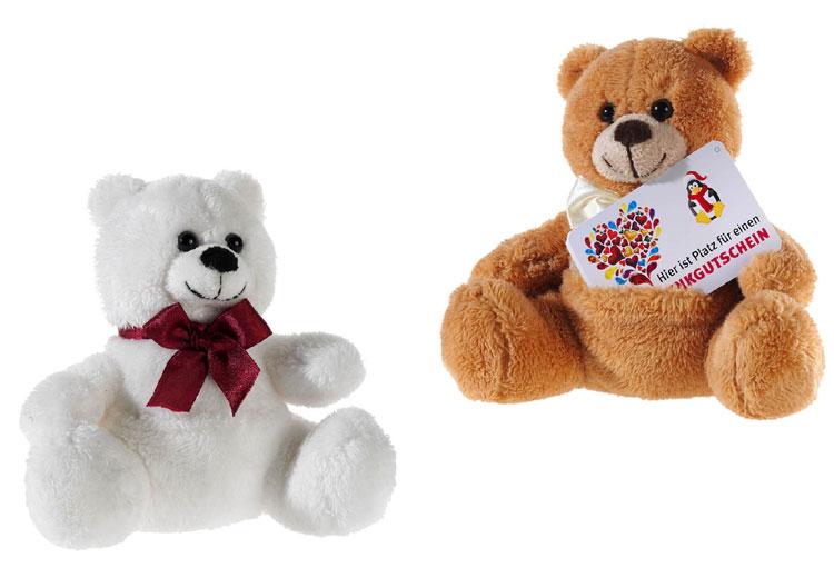 Bär für Geschenk-Karte, farblich sortierte Ware