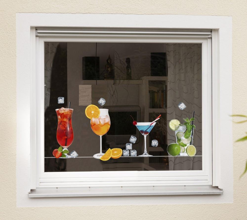 Window- Sticker Cocktails