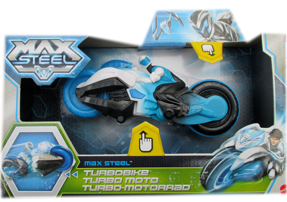 Actionfigur mit Turbo-Motorrad Max Steel