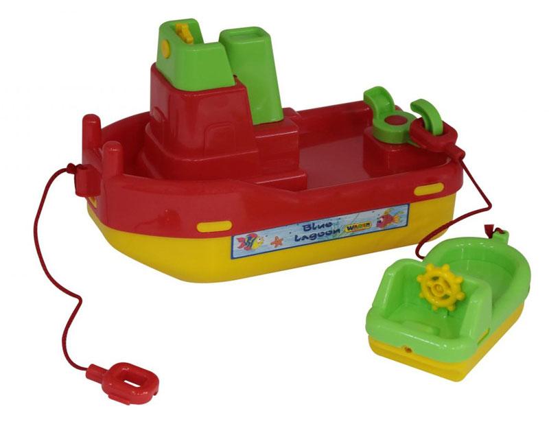 WADER Schlepper Lagoon mit kleinem Boot
