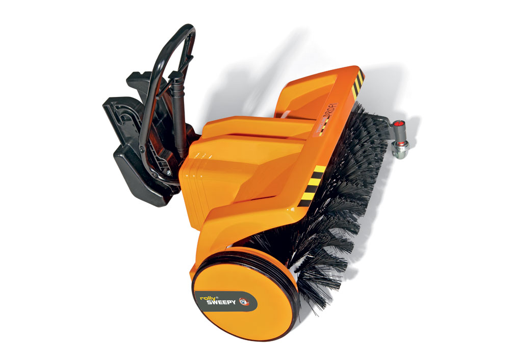 rollySweepy Kehrmaschine für Trettraktoren orange