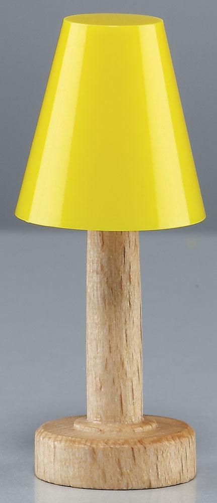 tischlampe mit gelbem schirm f r puppenhaus. Black Bedroom Furniture Sets. Home Design Ideas