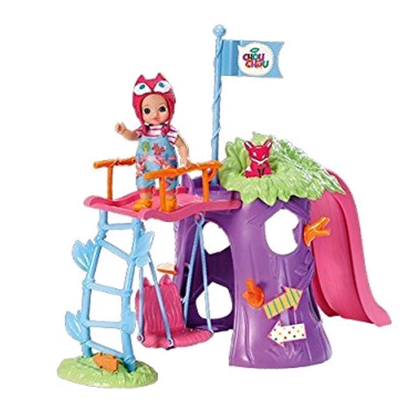Zapf Creation Mini Chou Chou Spielplatzset mit exklusivem Fox Susy