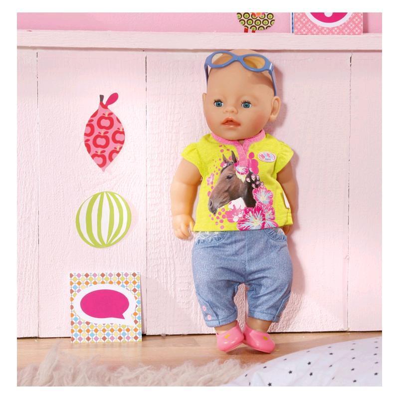 Zapf Baby Born Deluxe Jeans Kollektion   grün mit Hose