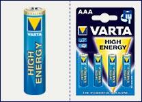 Varta HighEnergy Alkali-Batterie Micro AAA 4er Pack