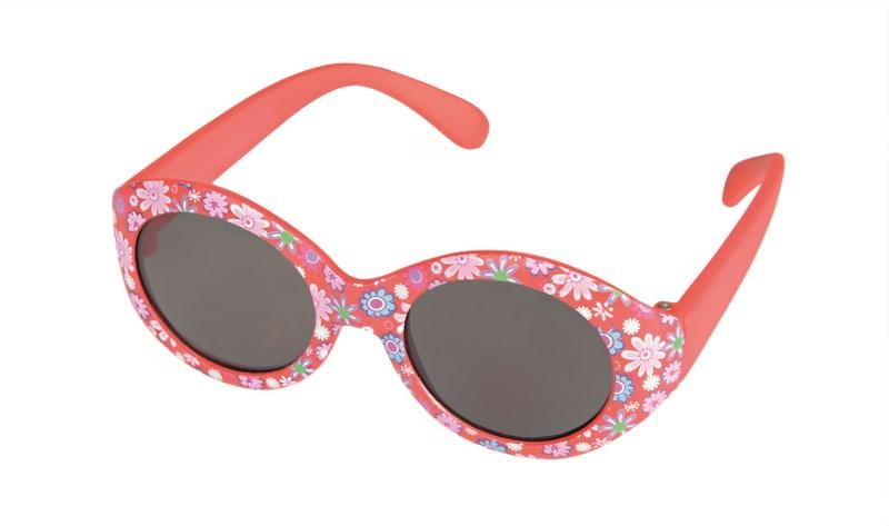 Sonnenbrille Baby rot mit Blumen