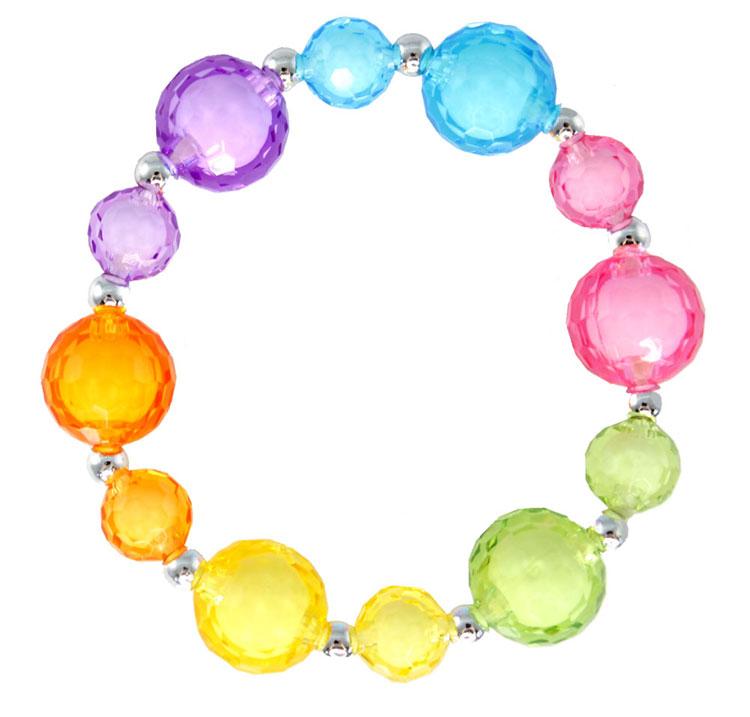 Regenbogen-Perlen-Armband