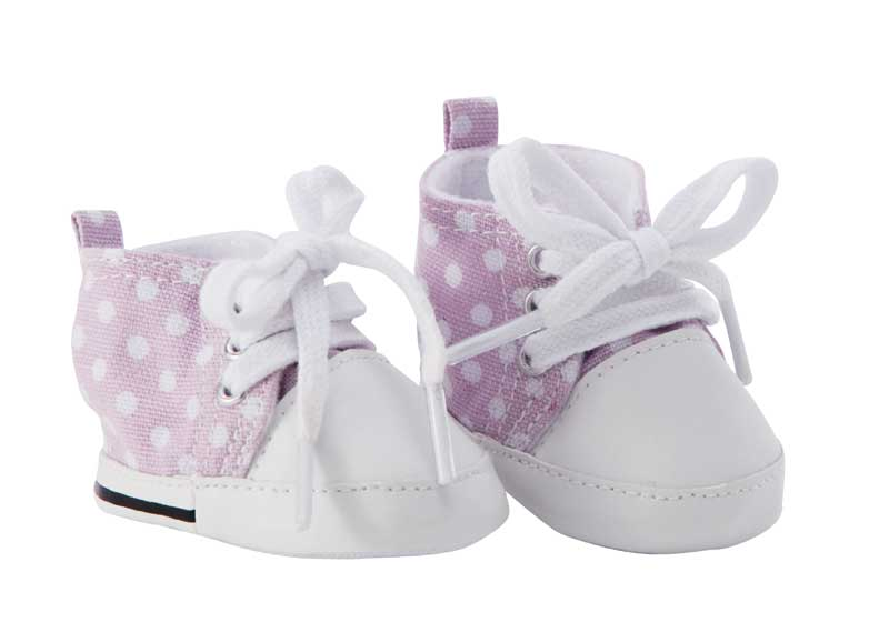 BABY born Schuhe lila mit Punkten