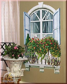 Wandaufkleber Wallies Großes Gemälde(BigMuralXL) Paris-Fenster