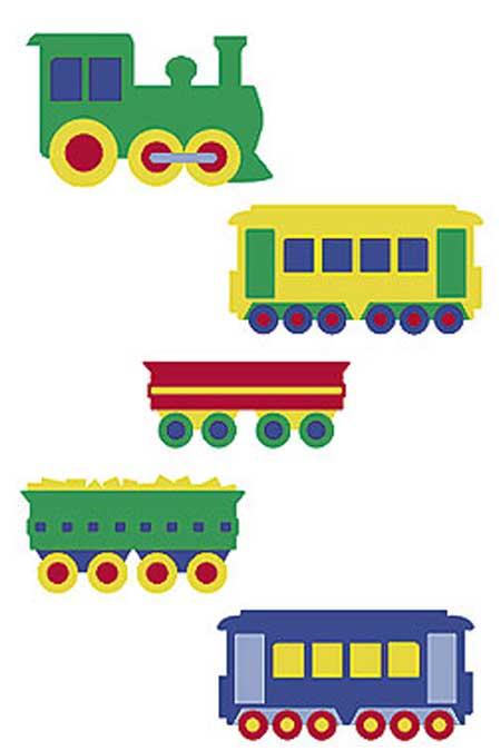 Wandaufkleber Wallies Motiv-Sticker (Cutouts) Trains