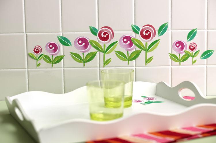 Wandaufkleber Wallies Sticker(Self Adhesive 2 Bögen) Blumen