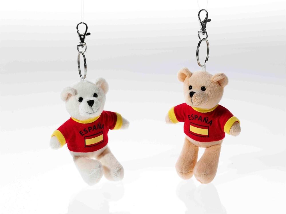 Schlüsselring Bär mit Shirt Spanien, 1 Stück, ...