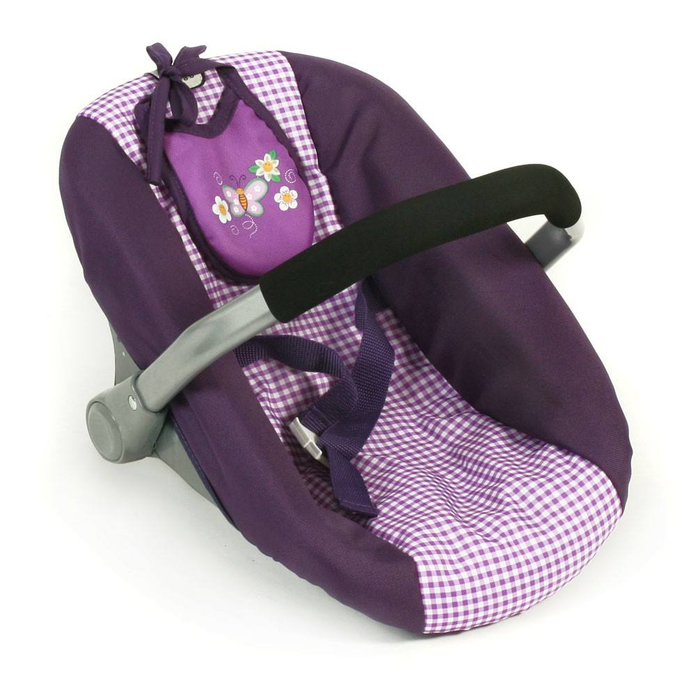 Puppenautositz Dessin Purple Checker