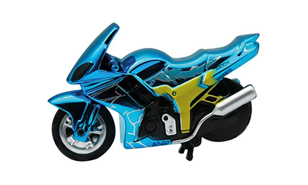 Spin-Go Mini-Stunt-Bike, Ice Blue
