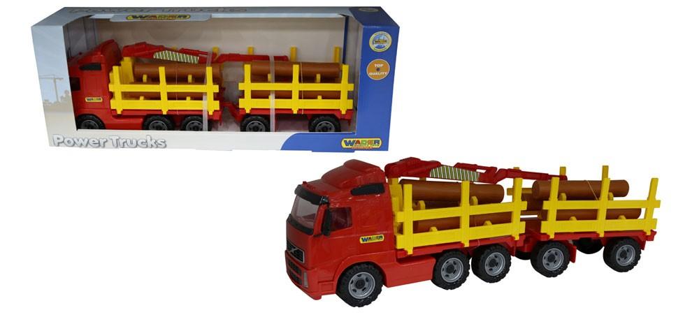 Power Truck Holztransporter mit Anhänger