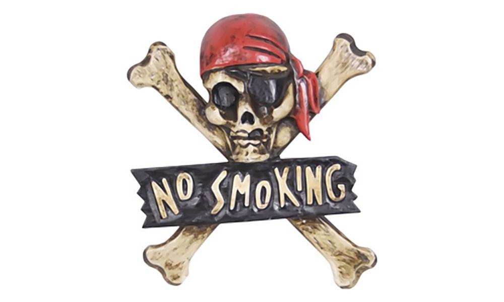 Totenkopf-Schild - NO SMOKING