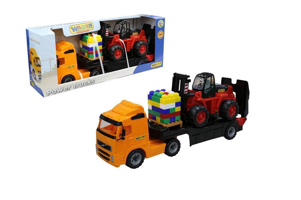 Power Truck Tieflader mit Gabelstapler