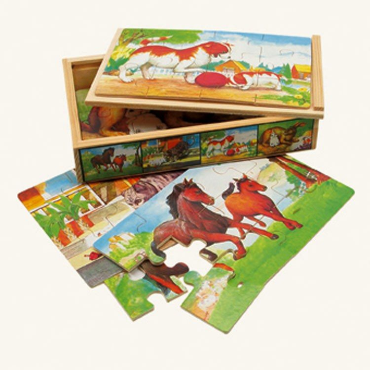 Puzzles Box, 4 Puzzles Tiere