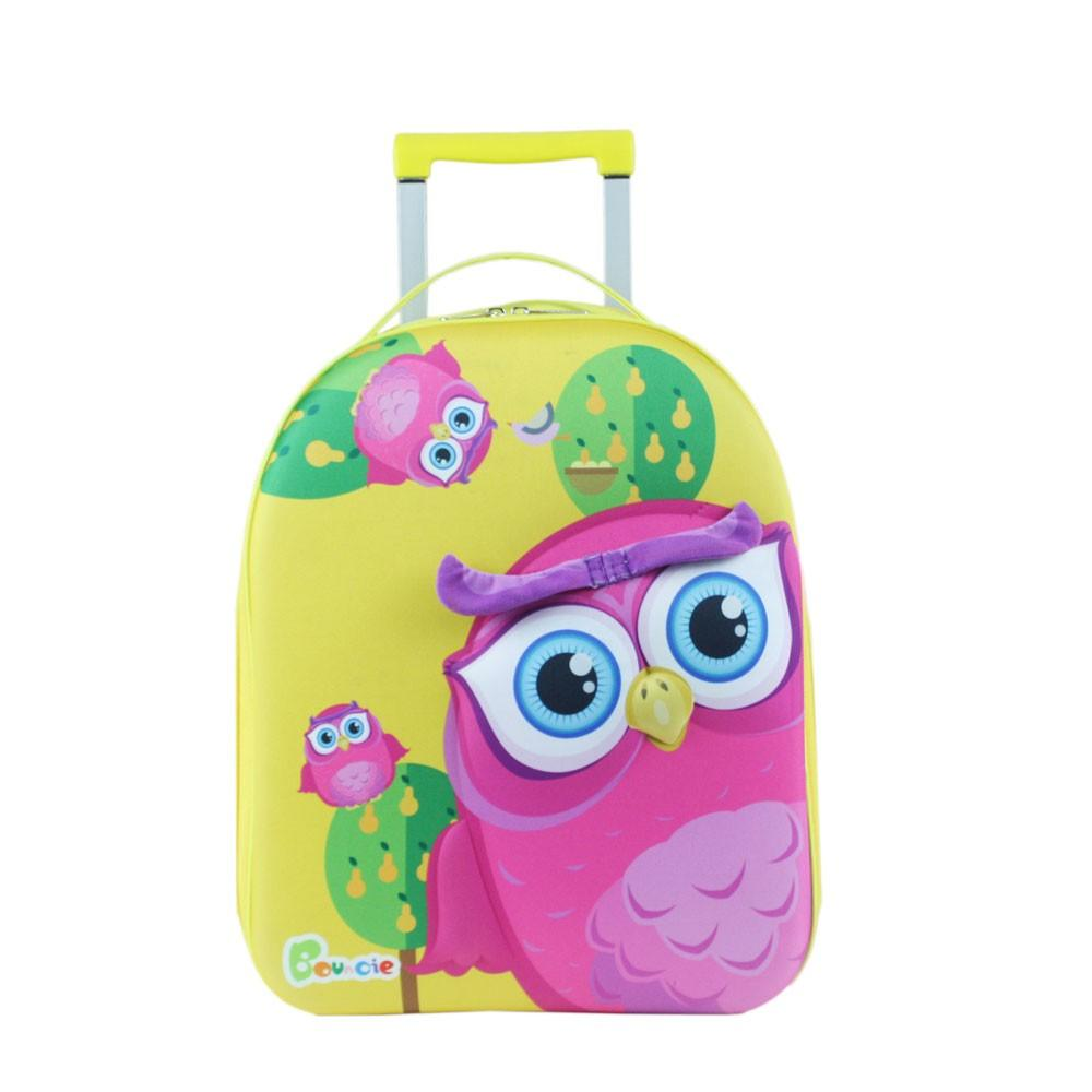 Bouncie 3D-Trolley Owl Pink