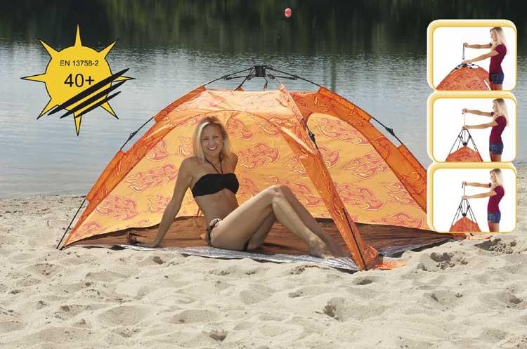 Strandmuschel Ruck Zuck Design orange