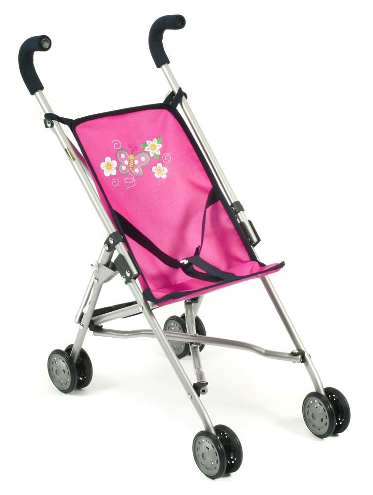 Mini-Buggy ROMA für Puppen Dessin Dots Navy-Pink
