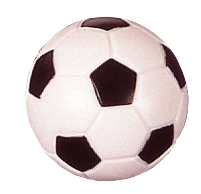 Kickerball Fussball, schwarz-weiss