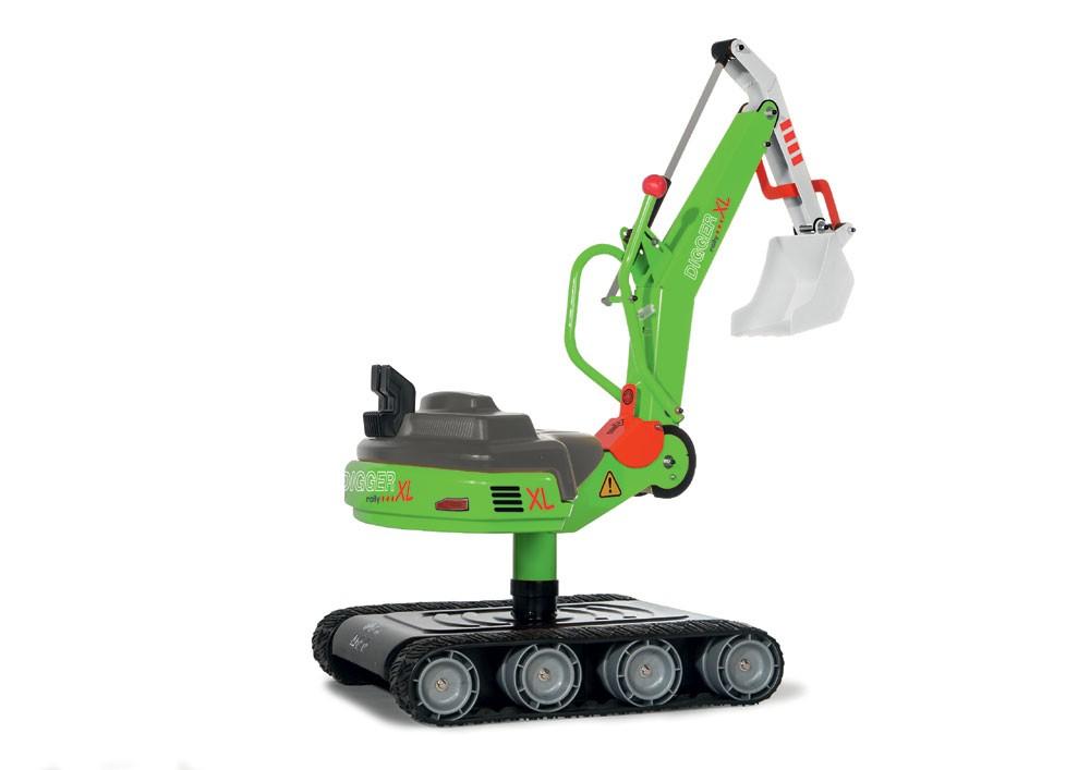 Sandfahrzeuge - Kinderbagger rollyDigger XL, grün - Onlineshop