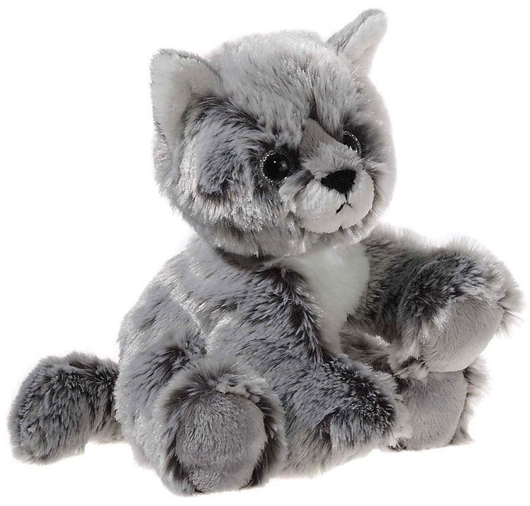 GLITTER-KITTY Katzen-Baby, graumeliert Grösse 20 cm