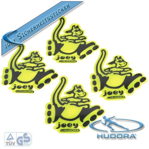 Hudora - 4 Sicherheits-Sticker