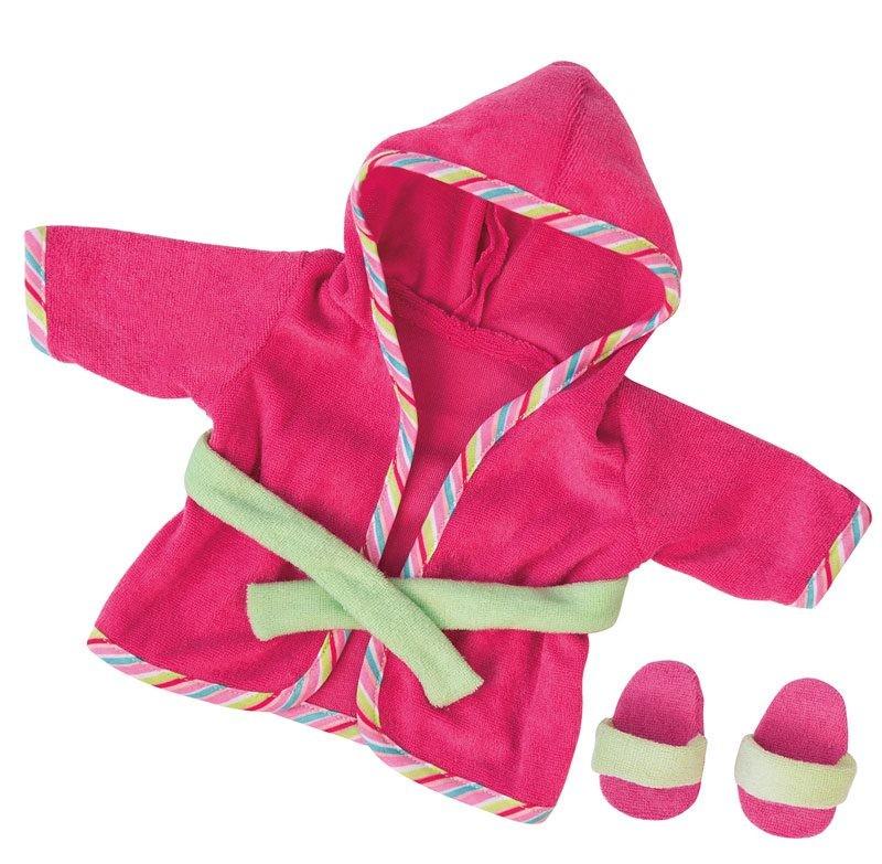 Bademantel für Puppen, pink bis ca. 38 cm