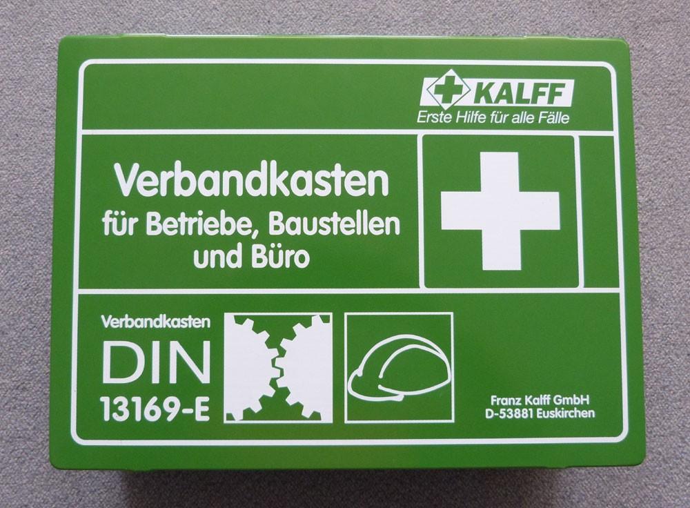 Betriebsverbandkasten groß, Metall, DIN 13169-E