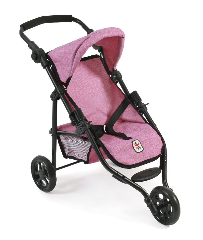 Jogging-Buggy LOLA für Puppen, Jeans pink