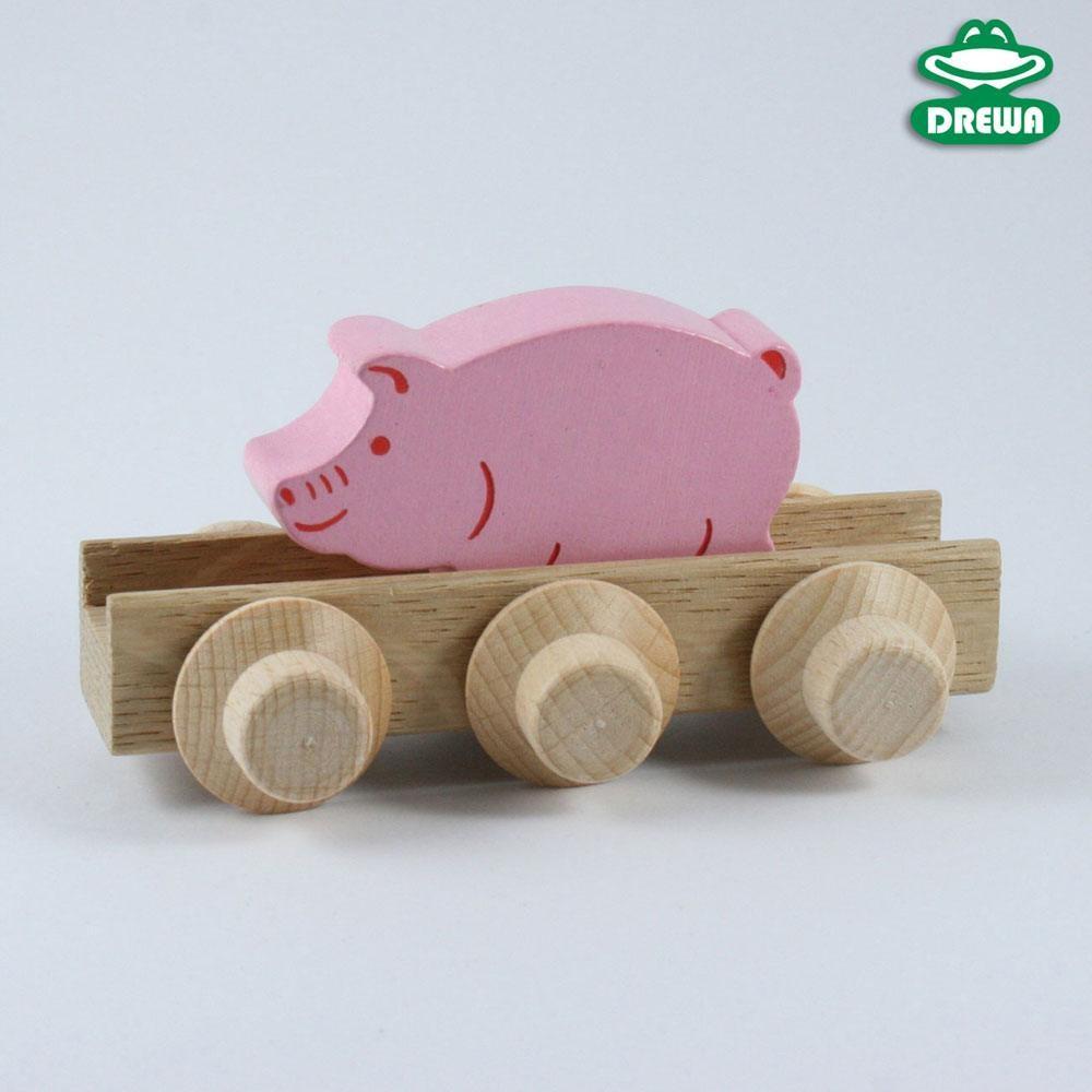 Laufteil für DREWA Kugelbahnen, Bauernhof - Schweinchen