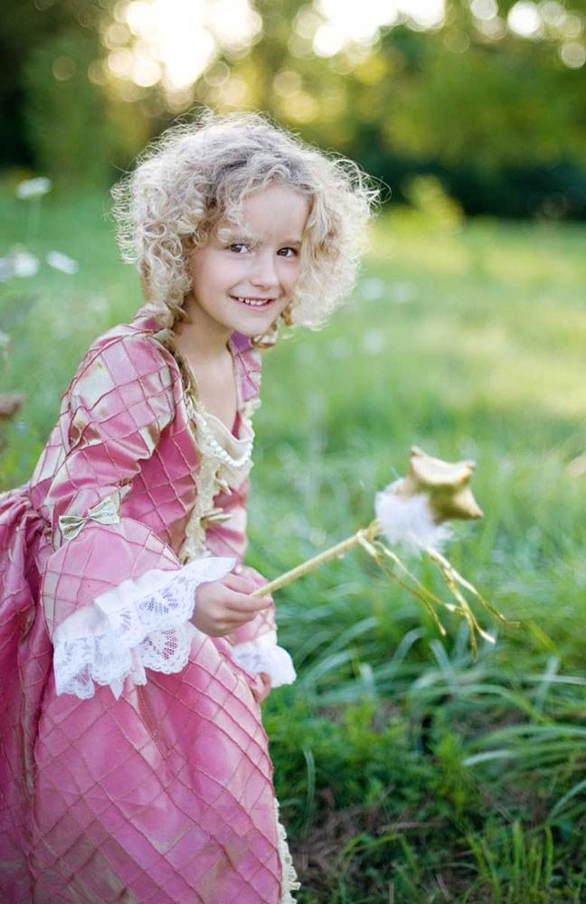 Renaissance- Kleid für Kinder, rosa-gold Grösse XL