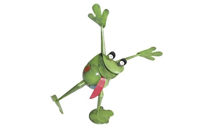 Metallfigur Happy Frosch Harro