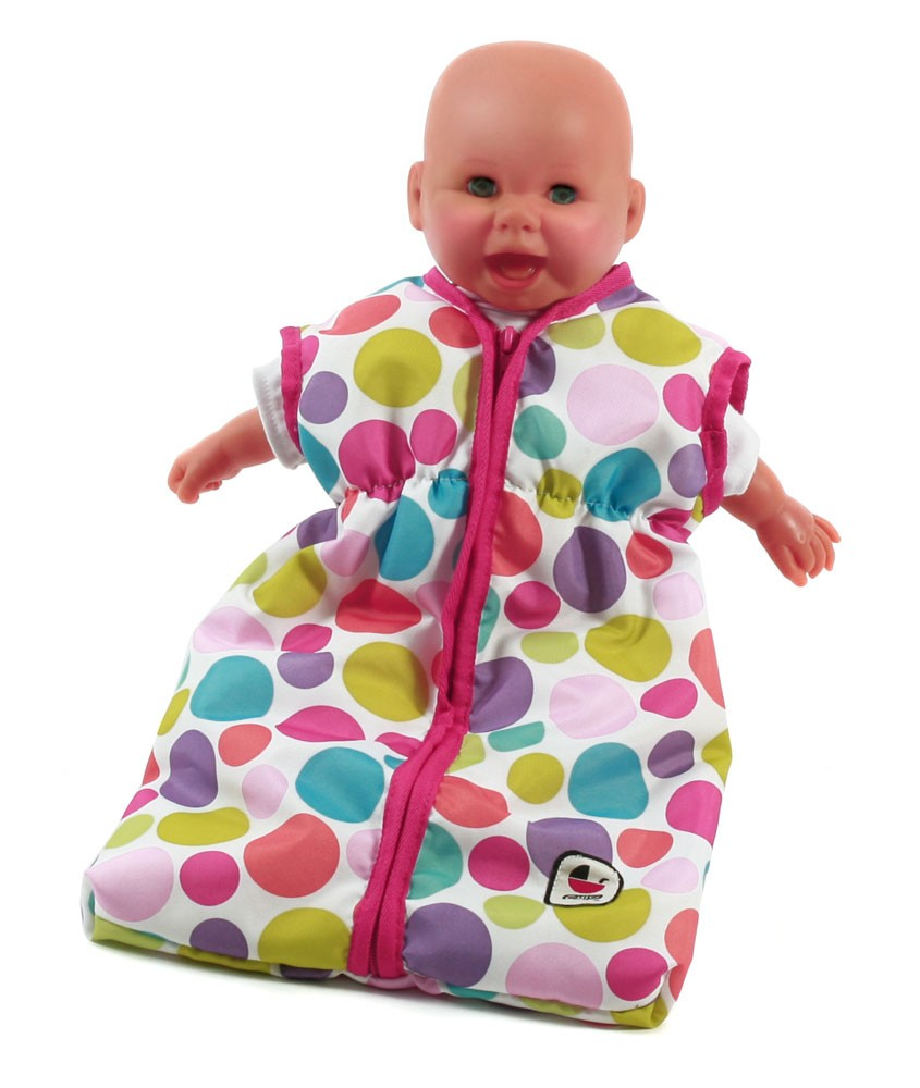 Puppenschlafsack Design Pinky Bubbles