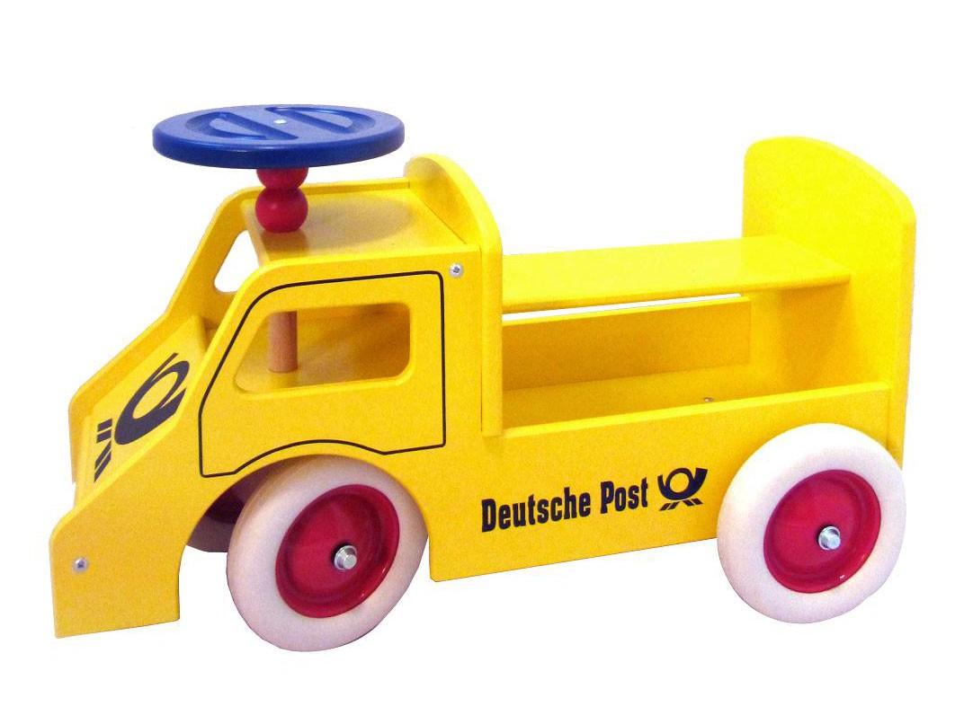 Rutscher Postauto aus Holz mit Lenkung