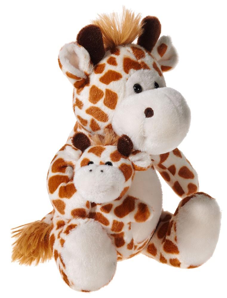 Plüschtier Giraffe mit Baby, Grösse 22 cm
