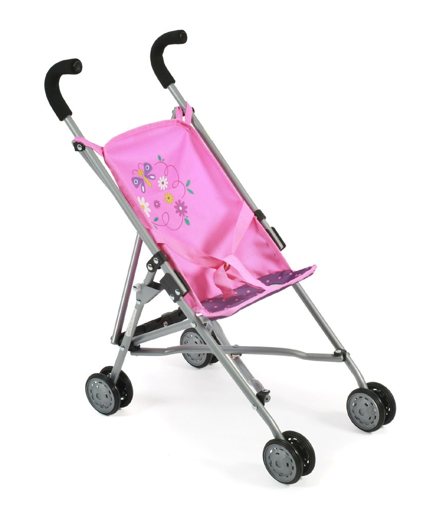 Mini-Buggy ROMA für Puppen Dessin Dots Purple-Pink