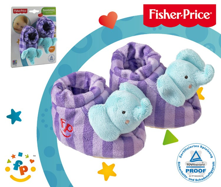 Fisher-Price Baby Rasselschuhe, Design Elefant