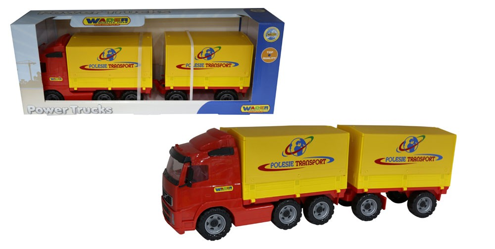 Power Truck Pritsche mit Plane und Anhänger