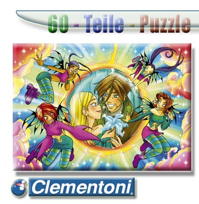 Clementoni Puzzle 60 Witch The Beautiful Lovers