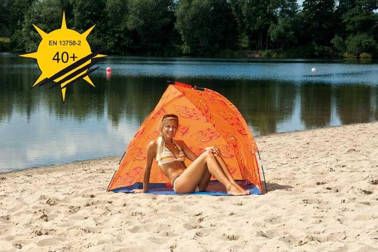 Strandmuschel Amrum Design orange