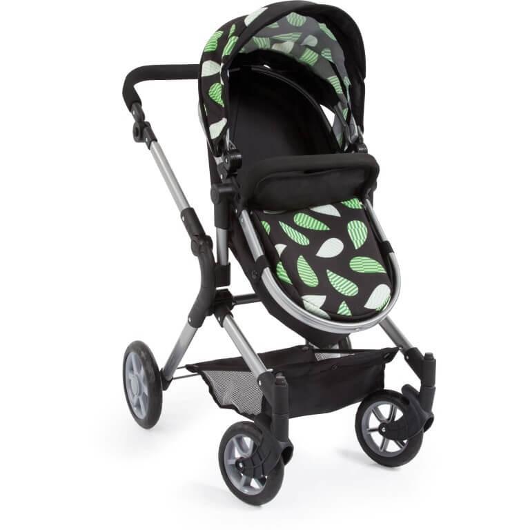 Kombi-Puppenwagen City Neo, schwarz/grün