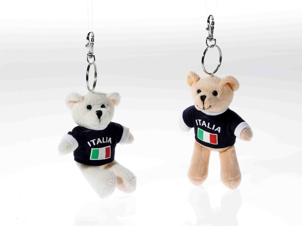 Schlüsselring Bär mit Shirt Italien, 1 Stück, ...